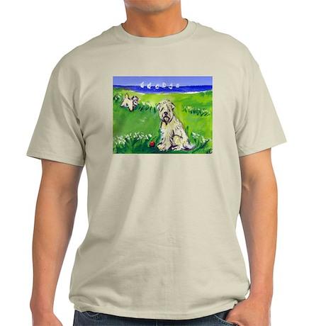 Wheaten by the lake Ash Grey T-Shirt