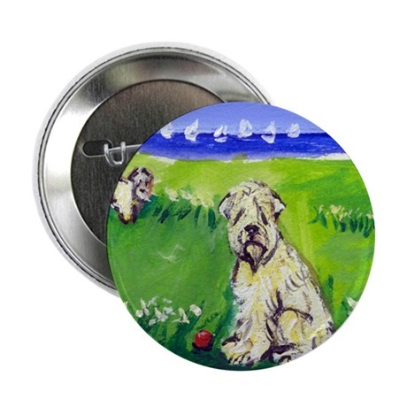 """Wheaten by the lake 2.25"""" Button (10 pack)"""
