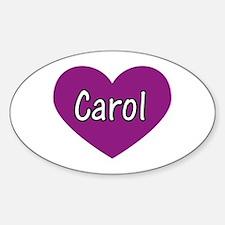 Carol Oval Decal