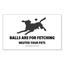 Neuter Your Pets Rectangle Decal
