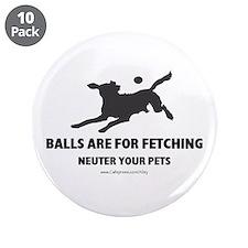 """Neuter Your Pets 3.5"""" Button (10 pack)"""