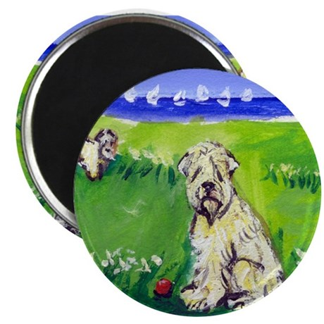 """Wheaten by the lake 2.25"""" Magnet (100 pack)"""