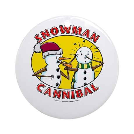 Snowman Cannibal Ornament (Round)