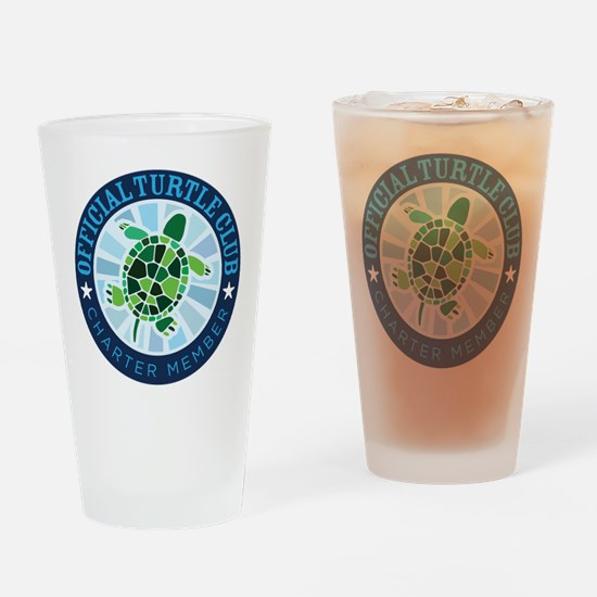 Turtle Club Drinking Glass