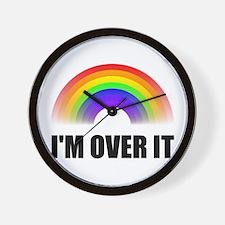 Over It Rainbow Wall Clock