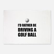 Rather Be Driving Golf Balls 5'x7'Area Rug