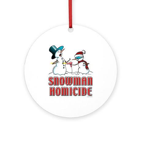 Snowman Homicide Ornament (Round)