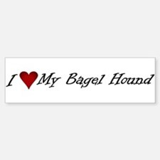I Heart My Bagel Bumper Bumper Bumper Sticker
