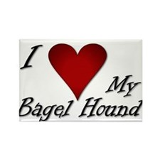 I Heart My Bagel Rectangle Magnet