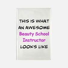 awesome beauty school teacher Rectangle Magnet