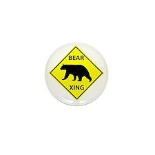 Bear Crossing Mini Button