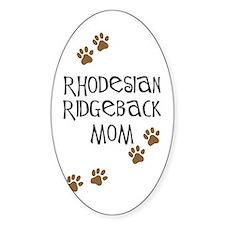 Ridgeback Mom Oval Decal