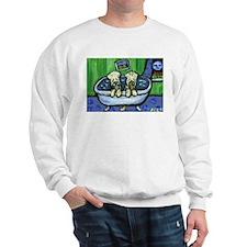 Wheatens in tub Design Sweatshirt