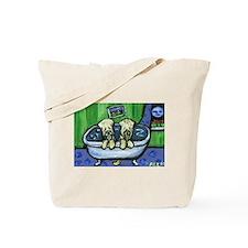 Wheatens in tub Design Tote Bag