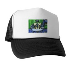Wheatens in tub Design Trucker Hat
