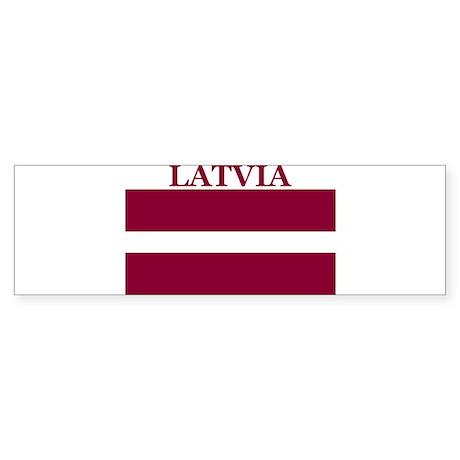Latvia Products Bumper Sticker