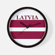 Latvia Products Wall Clock