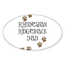 Ridgeback Dad Oval Decal