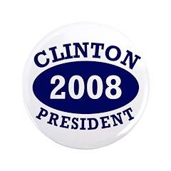Big 3.5 inch Clinton 2008 Button