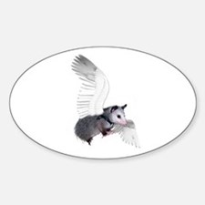 Angel Possum Oval Decal
