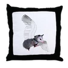 Angel Possum Throw Pillow