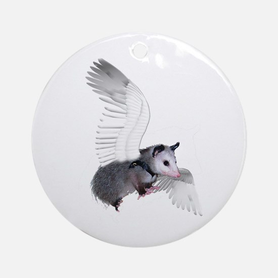 Angel Possum Ornament (Round)
