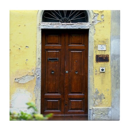 Tuscan Door Tile Coaster