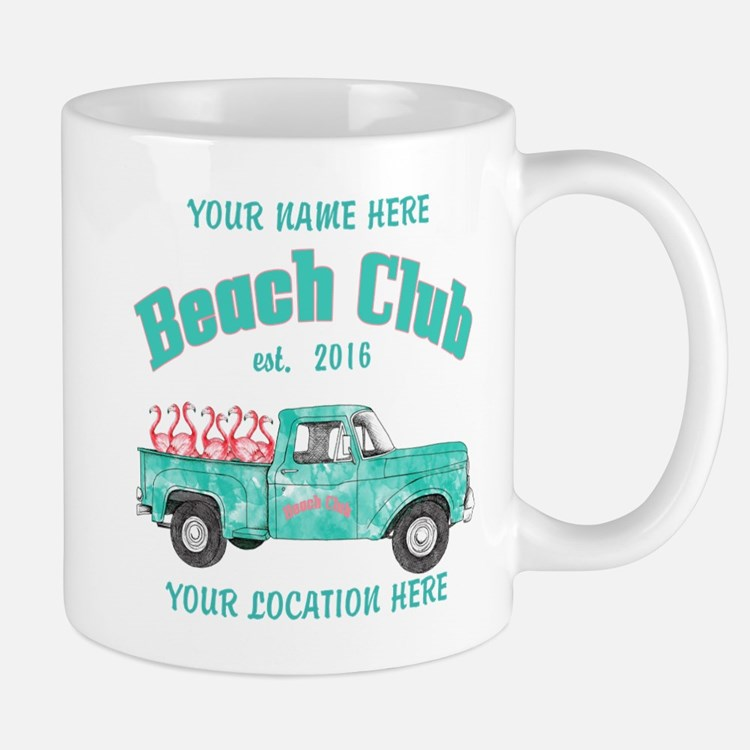 Flamingo Beach Club Mugs