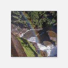 """Cute Yosemite falls Square Sticker 3"""" x 3"""""""