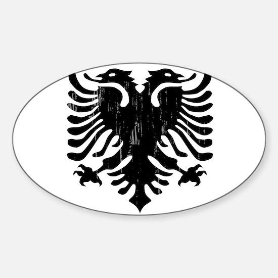 albania_eagle_distressed Decal