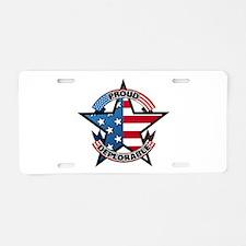 Proud Deplorable Aluminum License Plate