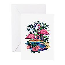 Flamingo 1A - Greeting Cards (Pk of 20)