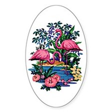 Flamingo 1A - Oval Decal