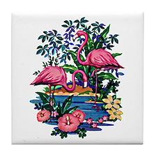 Flamingo 1A - Tile Coaster