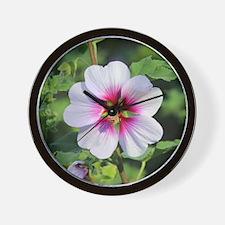 Pink Hibiscus flower Wall Clock
