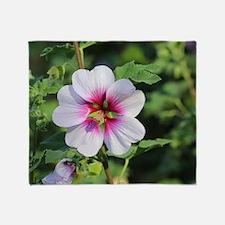 Pink Hibiscus flower Throw Blanket