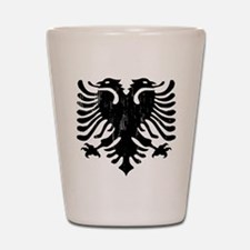 albania_eagle_distressed.png Shot Glass