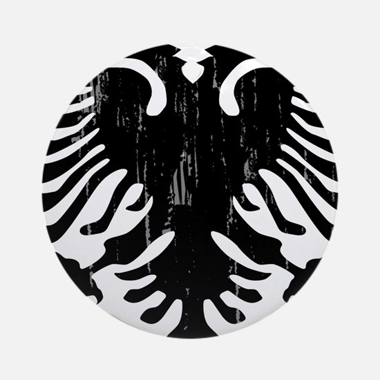 albania_eagle_distressed.png Round Ornament