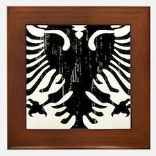 albania_eagle_distressed.png Framed Tile