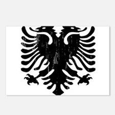 albania_eagle_distressed. Postcards (Package of 8)