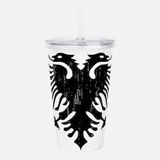 albania_eagle_distress Acrylic Double-wall Tumbler