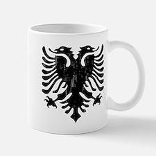 albania_eagle_distressed Mugs
