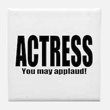 """ThMisc """"Actress"""" Tile Coaster"""