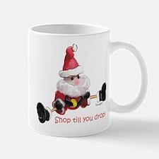 Shop till You Drop Santa Mug