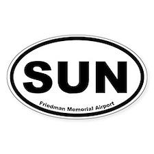 Friedman Memorial Airport Oval Decal