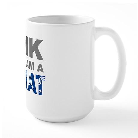 Think Democrat Large Mug