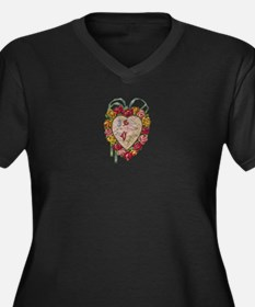 Victorian Heart Valentine Women's Plus Size V-Neck