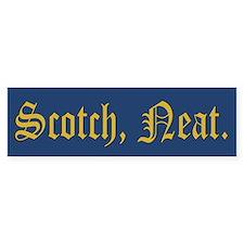 Scotch Neat Bumper Bumper Sticker