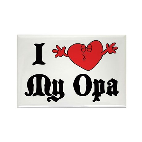I Love My Opa Rectangle Magnet