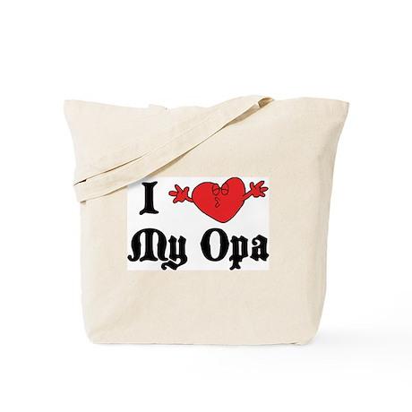 I Love My Opa Tote Bag
